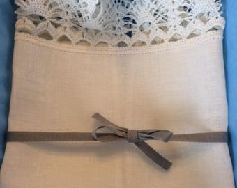 NEW!!! Hand made white linen towel