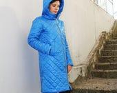 Rain jacket, Long winter jacket, Oversized outerwear, Long warm coat, Asymmetrical coat, Plus size winter jacket, Winter coats/C0017