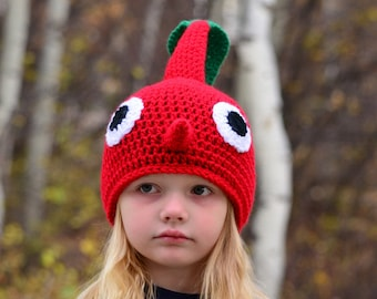 Red Pikmin Hat, Crochet By Allie