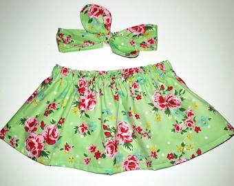 3-6 Baby skirt and headband set.