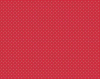 1 Yard- Red Swiss Dot by Riley Blake Designs- 670-80