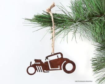 Rat Rod Rusty Metal Ornament / 1932 Coupe / Christmas Ornament / Light Pull /Car Ornament/Gifts for Him/Gift for Car Lover/Vintage Car/Coupe