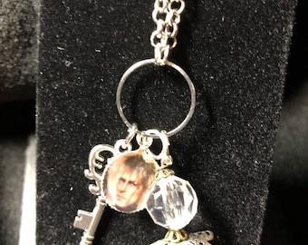 Labyrinth charm necklace