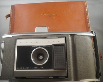 Polaroid J66 Land Camera and Leather Case