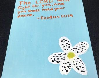 Exodus 14:14 Painting