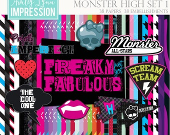 Monster High Digital Scrapbook Kit