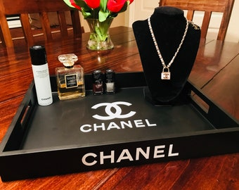 Chanel Black Decorative Tray