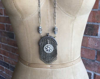 Victoria: a vintage assemblage necklace, assemblage jewelry