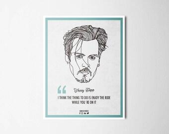 Ilustrattion-Influencers Jhonny Depp