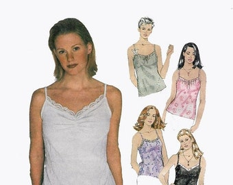ON SALE Vintage 1990s Misses' Tops with Built-in Bra - The Bra Top Sewing Pattern Mccall's 2183 90s Pattern Size Medium 12-14 Bust 36 UNCUT