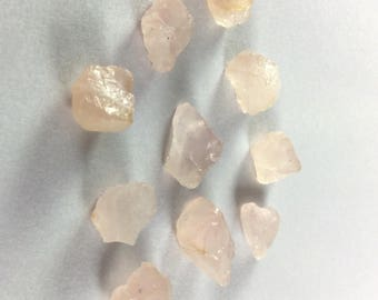 Rose quartz rough gemstone 8 to 15mm