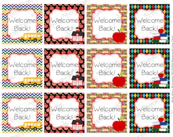 Printable Back to School Welcome Tags - Instant Download