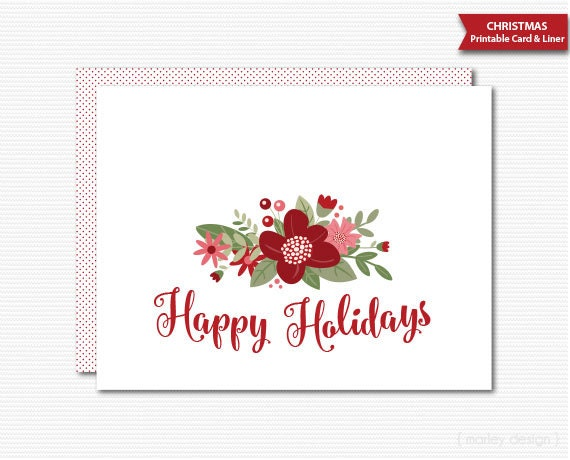 Insane image with printable holidays cards