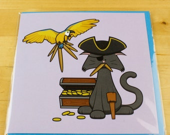 Pirate Cat Card