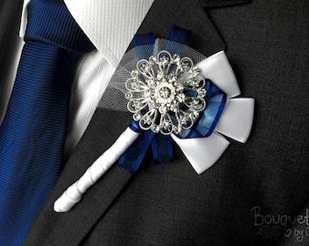 Silberne Hochzeit Knopfloch, dienstlich, Mens Hochzeit dienstlich, ReversStift, Knopfloch, Mens ReversStift, Silber Lapel Pin, Prom Revers, Bräutigam