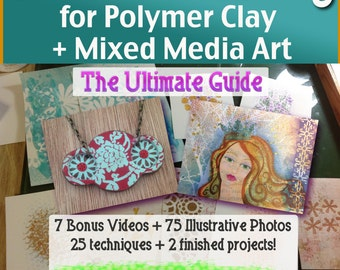 Polymer Clay Tutorial Ultimate Guide to Creative Stenciling for Polymer Clay and Mixed Media Art