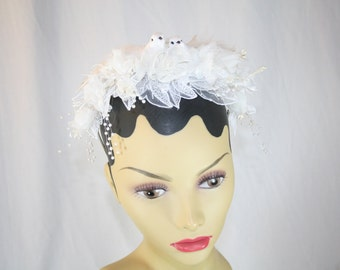 Bridal Headband Vintage Flowers Hairband LoveBirds Headband Wedding Headband Something Old Something New