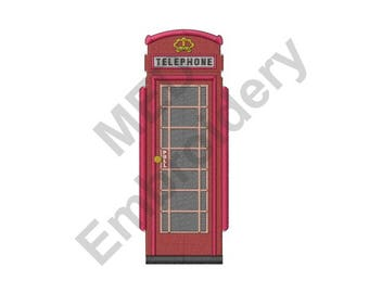 Phone Booth - Machine Embroidery Design