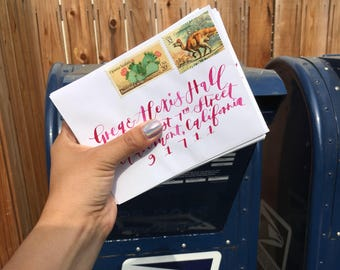 Hand-lettering for invitations (dipped pen)