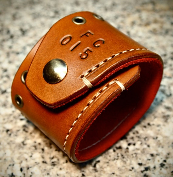 Leather Cuff Bracelet Brown Tan hand made Red Suede lined aged brass hardware handmade for YOU in USA by Freddie Matara!