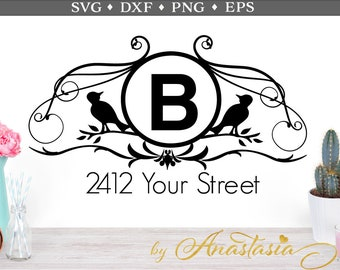 Mailbox Decal Dxf Svg Eps Png. Home, Mail, Download Cut Files, Vinyl Decal, Clipart for Cricut & Silhouette Machines