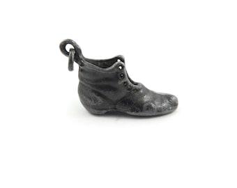 Vintage Monopoly Boot Charm, Gunmetal Tone