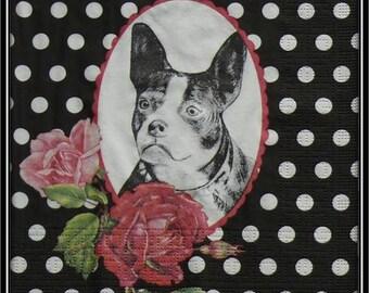 """french bulldog"" paper towel"