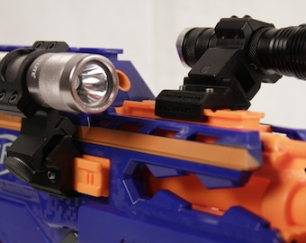 3D Printed – Nerf to Picatinny 45Degree Single Mini Rail for Nerf Gun