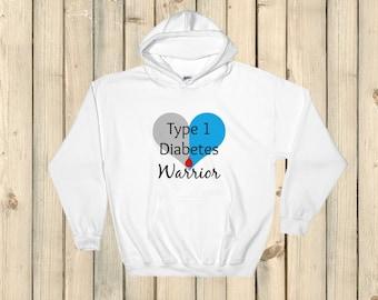 I am a Type 1 Diabetes Warrior T1D Hoodie Sweatshirt - Choose Color