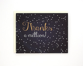 Thanks a million - Thank you card - night sky stars / THX-MILLION