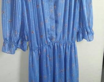 Powder blue sheer Dress