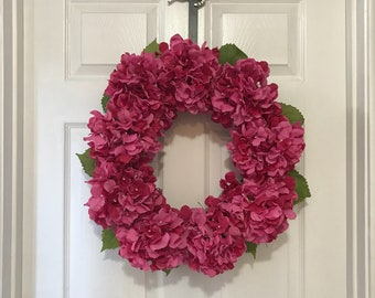 Hydrangea Wreath, Summer Wreath, Grapevine Wreath