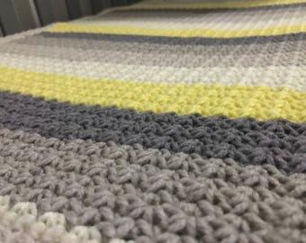 Dreamy Daffodil Crochet Baby Blanket