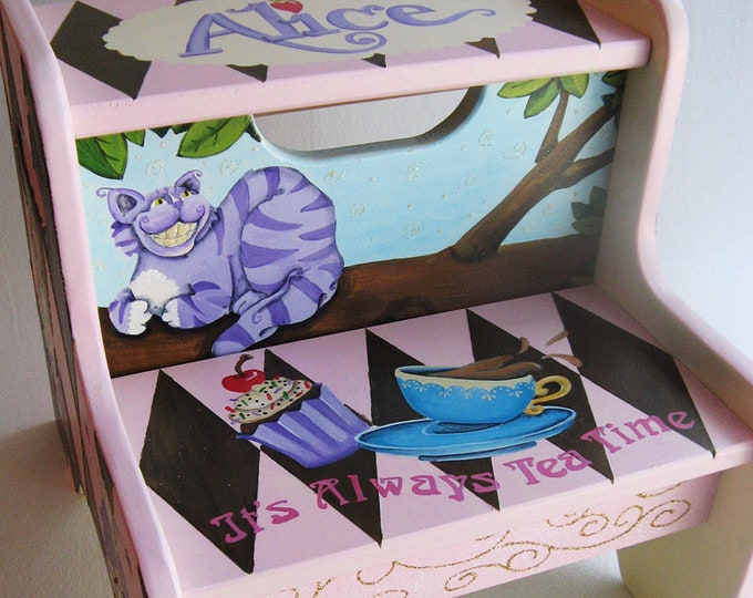Personalized Step Stool - Alice Design