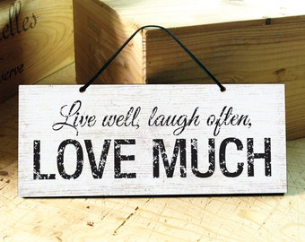 Wall Sign with Love Saying. Rustic Signs. Inspirational Signs. Rustic Wedding Gift. Rustic Home Decor. Positive Sign. Ready to Ship
