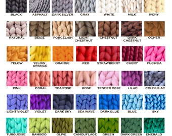 Merino Yarn - Unspun Merino - Super Bulky Yarn - Chunky Wool - Merino Wool Yarn - Super Chunky Yarn - Unspun Yarn - Unspun Wool