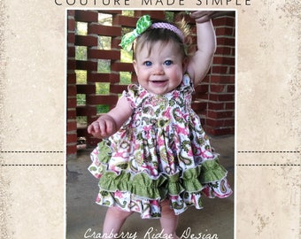 Baby Seyla's Sundress & Top PDF Pattern Sizes Newborn to 18/24m