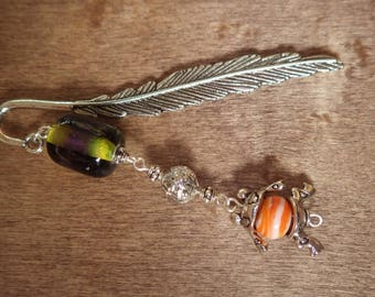 Bookmark with handmade bead