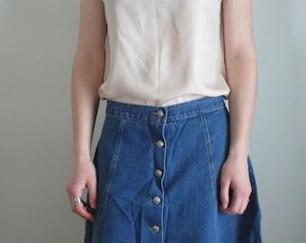 90s Silk Blouse Beige Blouse Short Sleeve 90s Minimalist Top Womens Silk Top Polka Dot Bern Conrad Blouse Vintage Silk Blouse 90s Top