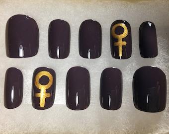 Venus Symbol Feminist Press On False Nails