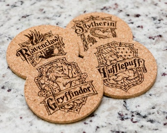 Hogwarts Houses Cork Coaster Set