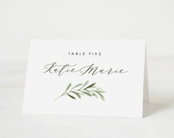 Place Card Template Etsy - Wedding place card template word