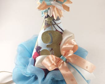 3rd Birthday Hat. Princess Birthday. Girls Birthday Hat. Smash Cake Session.