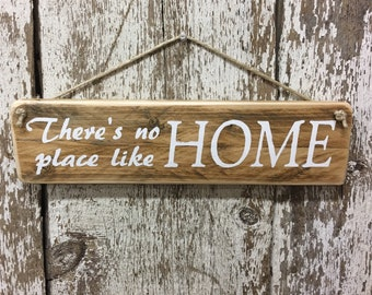 Theres No place like home Sign Welcome Home Sign Gifts for Mom Rustic Wood Sign Rustic Home Decor Dorothy Wizard of Oz Reclaimed Wood Signs