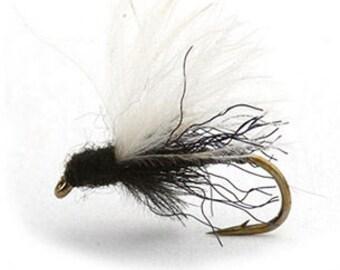 Fishing Flies - 3 Black Midge - Sizes 14, 16, 18