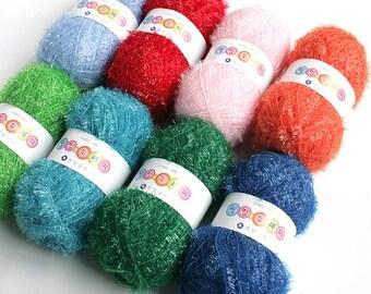Korean Well Being Scrubber Yarn,Scrubby Yarn, Bestseller in South Korea, 100% Polyester, 2.82oz(80g)