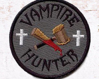 Patch, vampire, Halloween fer sur patch, à la Machine de fer brodé sur patch Vampire Hunter, Halloween