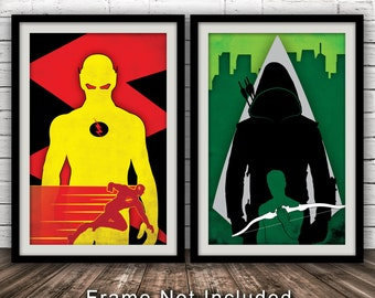 Arrow/The Flash TV Poster Bundle - Minimalist, Fan Art