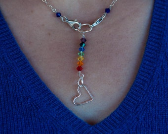 Rainbow Love, modular jewelry, mama metal, silver, hearts,
