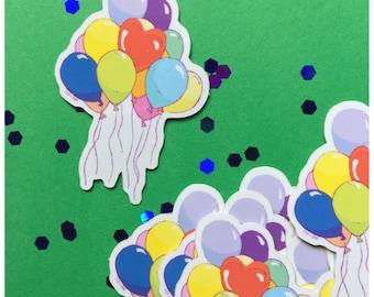 Bouquet of Bright Balloons Sticker